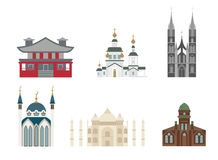 Cathedrals and churches vector Stock Photography