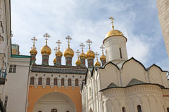 Cathedrals inside Moscow Kremlin, Russia. Stock Photography