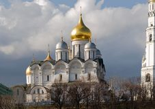 Cathedrals in the Kremlin. Russia, Moscow Royalty Free Stock Images