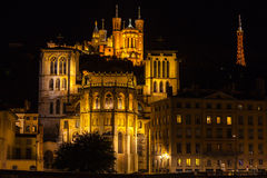 Cathedrals in Lyon, France Stock Photo