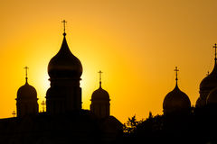Cathedrals of the Moscow Kremlin. Picture of cathedrals of the Moscow Kremlin Stock Photos