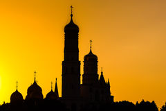 Cathedrals of the Moscow Kremlin Stock Photos