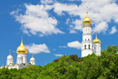 Cathedrals of Moscow Kremlin Stock Photo