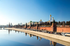 Cathedrals of the Moscow Kremlin, Russia Stock Image