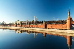 Cathedrals of the Moscow Kremlin, Russia Stock Photo