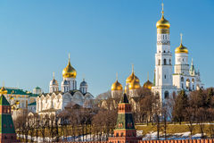 Cathedrals of the Moscow Kremlin, Russia Royalty Free Stock Photos