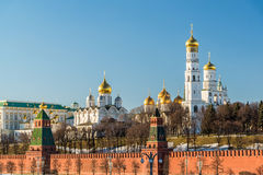 Cathedrals of the Moscow Kremlin, Russia Stock Photos