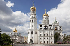 Cathedrals of the Moscow Kremlin. Royalty Free Stock Photos