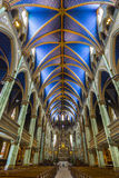 Cathedrawl Isle. The interior of Notre Dame Basilica Royalty Free Stock Photos