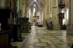 Cathedreal hermoso en Zagreb fotos de archivo