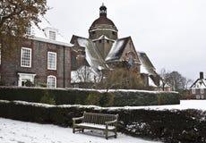 Catheral en sneeuw Royalty-vrije Stock Afbeeldingen