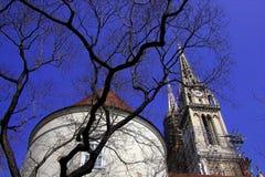 Catherdal à Zagreb Photographie stock libre de droits