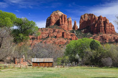Catherdal Rock in Sedona Arizona Royalty Free Stock Photography