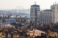 Catherdral在市利昂 免版税库存照片