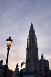 The catherdral of Antwerp, Belgium Royalty Free Stock Image