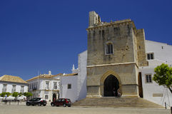 The catherdral in Faro. The catherdral in center city of Faro, Algarve Capital, Portugal Royalty Free Stock Images