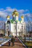 Catherine Cathedral in Tsarskoye Selo (Pushkin), Russia Royalty Free Stock Photo
