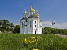 catherine chernigov kyrklig st ukraine Royaltyfri Fotografi