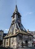 Catherine Church em Honfleur, igreja de madeira velha Fotografia de Stock Royalty Free