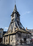 Catherine Church in Honfleur, old wooden church Royalty Free Stock Photography