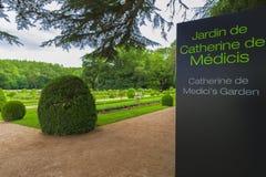 Catherine de Medici Garden stock afbeeldingen