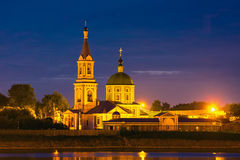 Catherine female monastery on the bank the Volga in Tver, Russia Royalty Free Stock Image