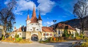 Catherine Gate, Brasov, Romania immagini stock libere da diritti