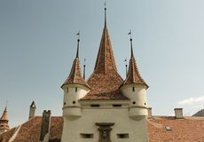 Catherine Gate, Brasov, Romania Storico, monumento fotografia stock