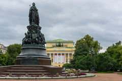 Catherine the Great Statue Stock Photo