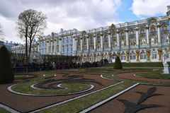 Catherine Great Tsarskoye Selo Palace royalty-vrije stock fotografie