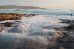 Catherine Hill Bay sjö Macquarie, New South Wales, Australien Arkivbilder