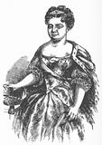 Catherine I, Empress of Russia. Engraving of Catherine I, Empress of Russia 1683 - 1727, formerly Martha Skavronska, a Lithuanian peasant who became the mistress Stock Image