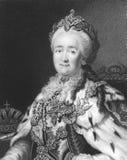 Catherine II de Rusia Foto de archivo libre de regalías