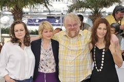 Catherine Keener, Micaela Williams, Philip Seymour Hoffman, Samantha Morton Fotografía de archivo libre de regalías