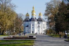 Catherine Kirche in Chernigov. Ukraine. Lizenzfreies Stockfoto