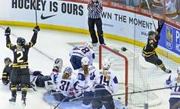 IIHF kobiet Lodowego hokeja światu mistrzostwo zdjęcie stock