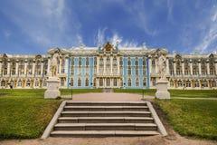 catherine pałac Petersburg Russia selo st tsarskoe lato krajobrazowy pawi widok Tsarskoye Selo jest stanu prezerwą Obrazy Royalty Free