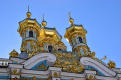 Catherine pałac w królewskiej wiosce St Petersburg Fotografia Stock