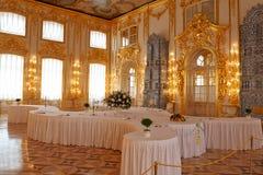 Catherine Palace binnen Royalty-vrije Stock Foto's