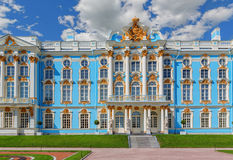 The Catherine Palace at the Catherine Park (Pushkin) in summer d Royalty Free Stock Photos