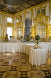 The Catherine Palace - Cavaliers Dining Hall - Courtiers-in-Attendance Dining Room. Catherine Palace is a Rococo palace located in the town of Tsarskoye Selo Stock Photography