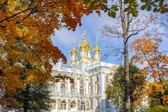 Free Catherine Palace Church Dome In Autumn, Pushkin Tsarskoe Selo, St. Petersburg, Russia Royalty Free Stock Photography - 160368887