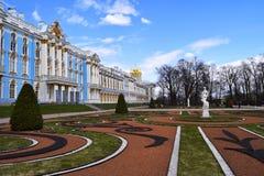 Catherine Palace is een Rococo'spaleis in de stad van Tsarskoye Selo wordt gevestigd die stock foto's