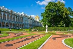Catherine Palace en St Petersburg, Rusia Fotografía de archivo libre de regalías