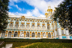 Catherine Palace Exterior in autumn Stock Photos