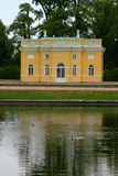 Catherine Palace Lake. A garden building on the lake of Cathrine's palace, St petersburg, Russia Stock Photography