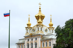 The Catherine Palace, located in the town of Pushkin, St. Petersburg, Russia Stock Photos
