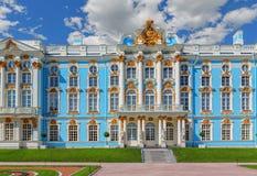Catherine Palace på Catherine Park (Pushkin) i sommar D Royaltyfria Foton
