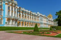 Catherine Palace på Catherine Park (Pushkin) i sommar D Fotografering för Bildbyråer