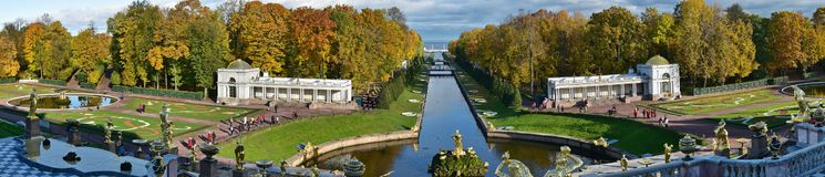 Catherine Palace, parc de St Petersbourg, grand images stock